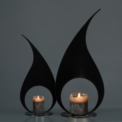 FLAME IT candle holder made by Yvette Laduk from the Netherlands
