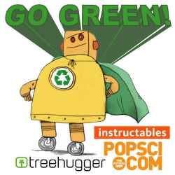 """Instructables, Popular Science, and TreeHugger """"Go Green!'' Contest - their image for the contest is too cute!"""