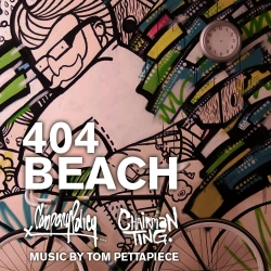 404 Beach is a collaborative stop-motion animation piece of a wall mural done by Mike Nowland of Company Policy, Carson Ting of Chairman Ting Industries and Tom Pettapiece.  The entire music track was composed and recorded specifically for 404 Beach by Tom Pettapiece.  Title: 404 beach Artists: Mike Nowland & Carson Ting Music: Tom Pettapiece Cameo appearance: Leanna Wilson Location: 404 Beach, Vancouver, Canada. October 2009.  companypolicy.tv chairmanting.com