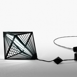 """""""Louxor"""" is a contemporary floor standing or hanging lantern designed by Parisian studio POOL."""