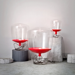 """Paris based designers Dan Yeffet and Lucie Koldova are back with a new series of elegant handmade blown glass lamps """"Balloons"""" designed for Czech editor Brokis."""