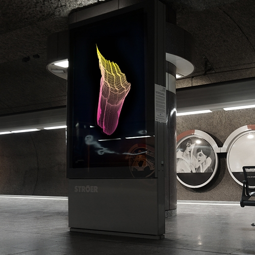 "The artist Fabian Gatermann transformed the metro station ""Schweizer Platz"" in Frankfurt into a light installation called CityLightCharts. All amorphous light objects are created through algorithms and data like migration, raw oil, gold or rich/poor indices..."