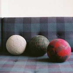 Spanish designer Klas Ernflo takes the soccer ball and covers it in fabric, making it both fun and fashionable.