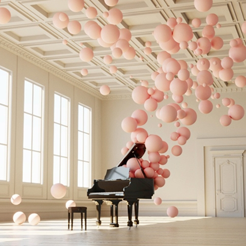 "In his delightful digital art series called ""Filling Spaces,"" Federico Picci visualizes musical notes as solid form in order to convey how the immaterial splendor of a musical composition can suffuse an otherwise empty room."
