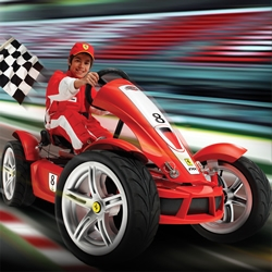 BERG Toys created the Ferrari FXX Exclusive. This luxury pedal go kart equipped with a.o. 7 gears and on-board computer is the ultimate experience!