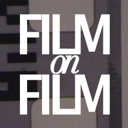This is a film, on film, about film, created by cutting, and glueing old 35mm film, on top of 16mm film, and then filming the process, and overlaying the results. Easier to understand when watching.
