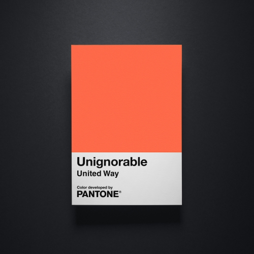 TAXI partners with United Way to create #unignorable. A brand new color from Pantone® to bring attention to the issues that so often go ignored in our communities.