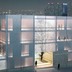 The Embassy Of Finland In Tokyo, by Architects Lahdelma & Mahlamäki Ltd. This is a first prize in the architectural competition arranged by the Ministry for Foreign Affairs.