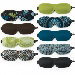 Delightful new printed sleep masks from Bucky. Perfect for long flights or lazy Sundays. Contour allows you to blink naturally and won't smudge your mascara.