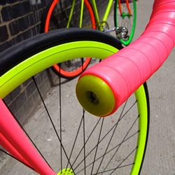 These outrageous 'Flouro Bikes' from Fixed Gear London and Benedict Radcliffe will certainly make sure you're seen on the road.