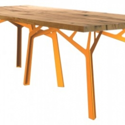 German designers KFF have recently launched this new dining table called 'Foerster' which combines recycled oak beams with a striking metal frame.