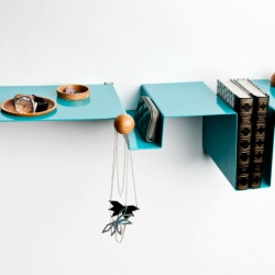 """Fold"" shelf designed by a Icelandic design studio Stáss."