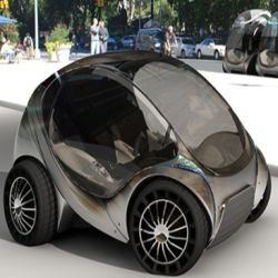 MIT's City Car concept is a zero emission car which is foldable and takes one-eighth the size for parking to an average car.