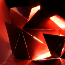 An Origami Lamp to fold yoursef by Thomas Hick...