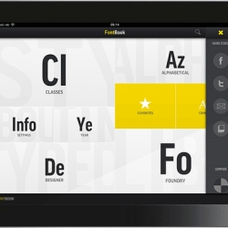FontBook for iPad – not a book, but a typographic atlas, Facebook and Tweet the 620,000 font samples, the equivalent of 20 printed FontBooks.