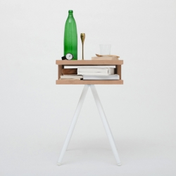 The Steel Wood Table by Thom Fougere is a flexible table and storage unit suitable for any room in your home.