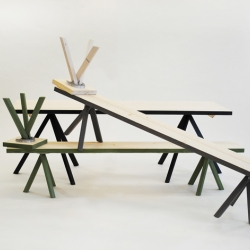 Franzl, benches by Sebastian Schneider