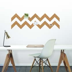 The ROLL + PIN is the pin board re-imagined. It's easy to cut into shape and features a peel-off adhesive backing, this 3-metre roll of natural cork will let you create your own unique memo board design!