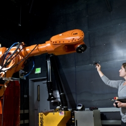 Madeline Gannon on becoming a Robot Whisperer at Autodesk Pier 9.