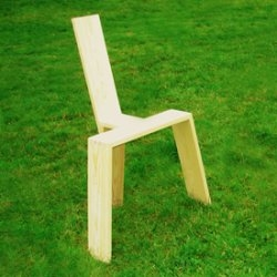The simplest chair, designed by Ulf Jansson.Via redhousedesign.blogspot.com