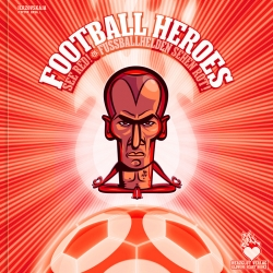 Football Heroes See Red! is the ultimate football stickers collectors' album. 38 illustrators pay homage to the best teams and players in football with a series of stunning portraits.