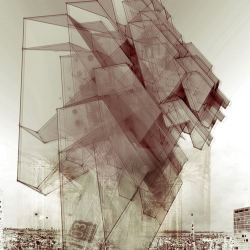 Intelligent Pencil is the pen name of the artist behind these visually intense graphic architectural gestures.