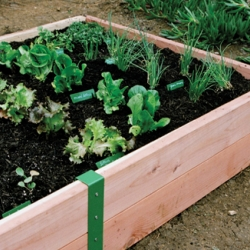 The S.R. Raised Garden Box is designed to simplify the process of assembling a raised bed garden, making food production feasible for green thumbs and the garden challenged alike.
