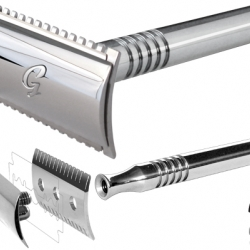 A nice piece of equipment for men. Bringing back the art of shaving, not using plastic but chic razors by Goodfella.