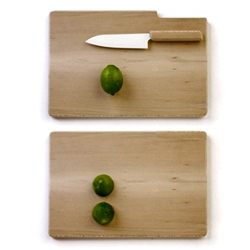 A knife & cutting board set available exclusively at the Philip Johnson Glass House Giftshop.