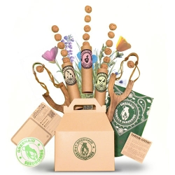 Guerilla Gardening Gift Boxes from Greenaid Seedbombs are a fun way to inspire urban transformation.