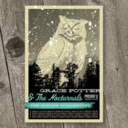 Glow in the Dark Screenprint on French Paper for Grace Potter & The Nocturnals 2011 Winter Wondertour!