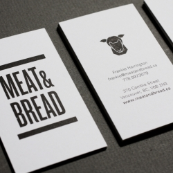 Meat & Bread is a great name for a sandwich shop. In addition to a great name they are also sporting a stylistically pure identity created by Glasfurd & Walker.