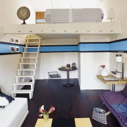 French site showing the possibilities of having a small flat / apartment and making the best use of the space.