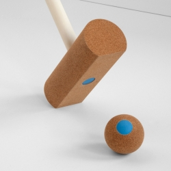 Gates is a croquet game for home use. It is designed by Romain Lagrange, and made by French and Swiss craftsmen.