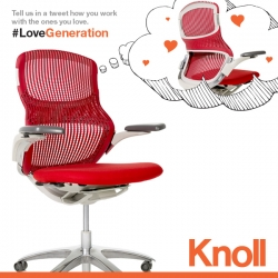 Valentine's Day Giveaway!!! Our friends at Knoll are giving one lucky reader a PAIR of Generation Chairs!
