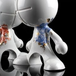 Loving this series of designer art toys by Zeitgeist Toys. Each figurine is created from porcelain and precious metals.