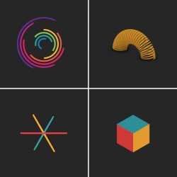 Beautiful Geometric GIFs by Florian de Looij.