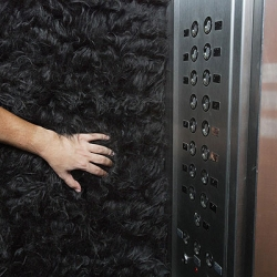 To promote the Gillette Mach 3, the interior of an elevator was completely covered with artificial beard. Cool!