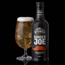 Nice moustachioed branding for Ginger Joe's Ginger Beer.