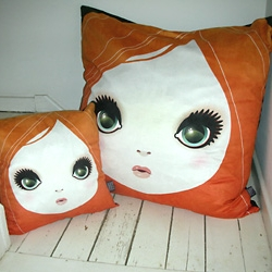 ClickforArt.com. There is a 20% OFF with code JANUARYSALE at the checkout to receive the discount.  These cracking faux suede feather filled pillow and cushion by Artist Jules.