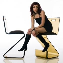 The Design Glide bar stool by Haziza is distilled to its essence. Available in twelve unique colors including Tangerine, Flamingo, Passion Pink, Crimson, Sapphire, Orchid, Sky, Marine, Honey, Iguana, Fig, and Greek Urn.