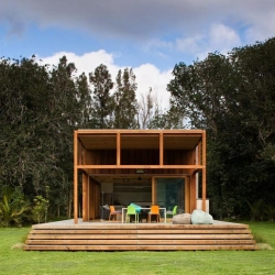 On Great Barrier Island in New Zealand, Crosson Clarke Carnachan Architects designed a beautiful sustainable family home nestled in nature.