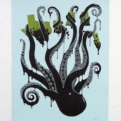 Ocotpus Vulgaris print by Jude Landry, edition of 75