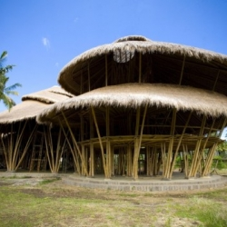 """""""Green school"""" located in Badung, Bali, Indonesia. Itl was established to motivate people for sustainable living and to show people how to build with sustainable materials, namely bamboo."""