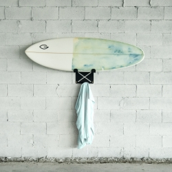 El Gringo Surfboard Rack by Make lets you store and display your board in your aesthetically conscious home.