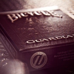 The original Bicycle Guardians set the industry standard for premium playing cards. This new edition features embossed, raised titles and metallic foil.