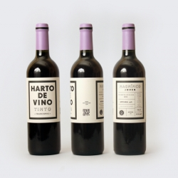 """A great packaging and branding project for """"Harto de Vino"""" by Spanish designer Diego Delgado."""