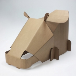 "RISD Industrial Design sophomores just completed the infamous, annual assignment of designing a cardboard chair from one 48""x80"" sheet of cardboard."
