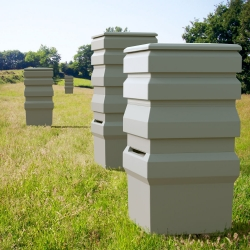 This is an an industrial object, a bee keeping system and small-scale architecture.