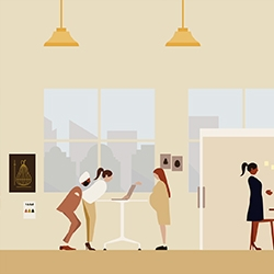 "Herman Miller's ""Workers are Shoppers"" campaign, illustrated by Daniel Carlsten and animated by Dress Code."